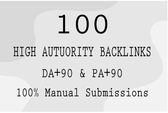 provide high quality domain authority seo backlinks da90 pa90 manually