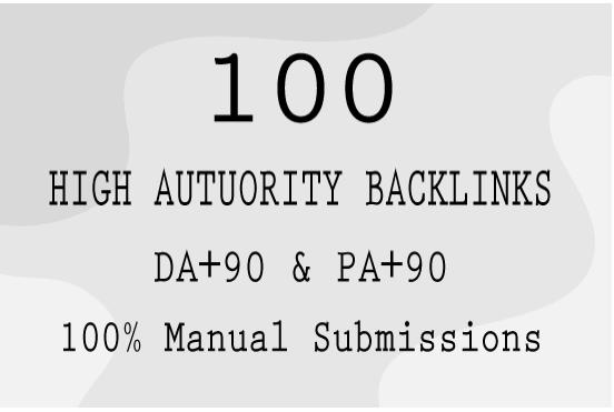 provide high quality domain authority seo backlinks da90 pa90 manually