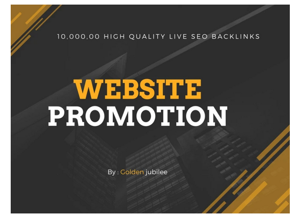 provide 1m HQ SEO backlinks for website promotion