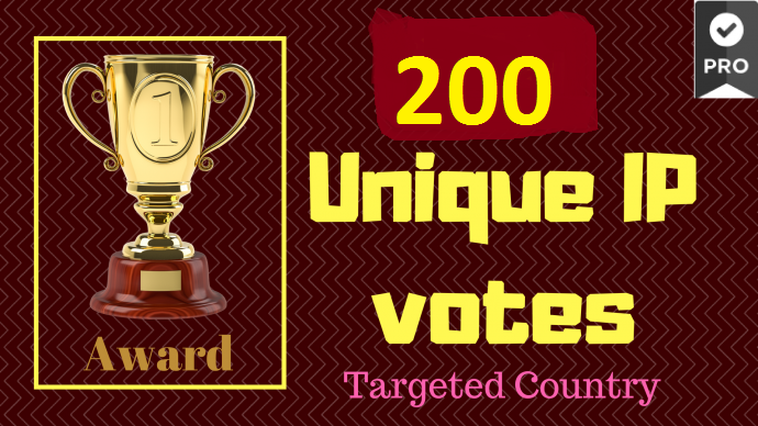 Give to 200 genuine IP votes by real people to any co...