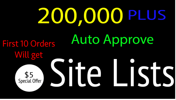 give you 200k plus auto approved gsa backlink list