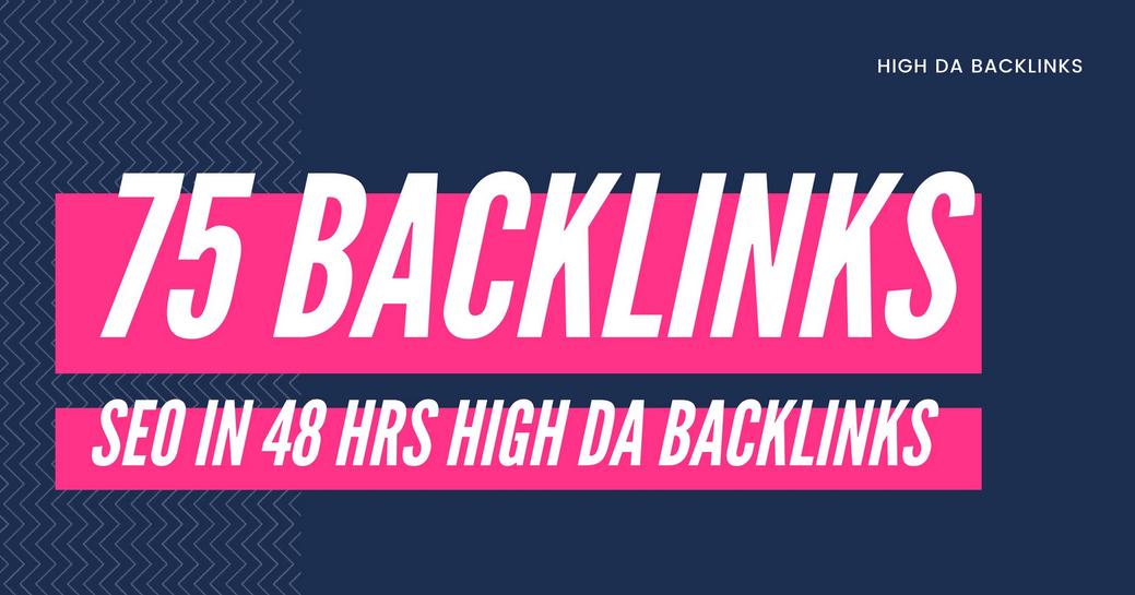 create 75 high da backlink for SEO