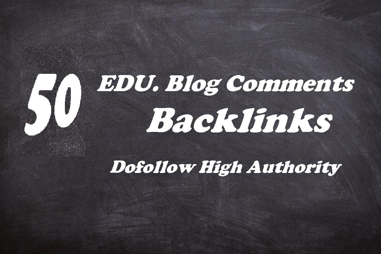 submit  50 High PR .Edu Backlinks and rank higher on Google.