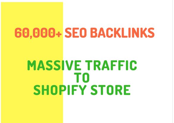 make 20,000 SEO backlinks for shopify online store promotion