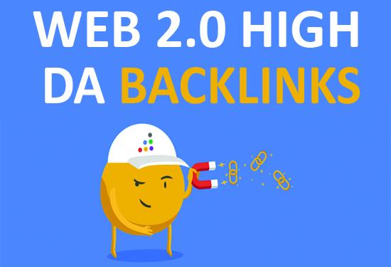 Get 25 web 2.0 dedicated DA70 accounts backlinks
