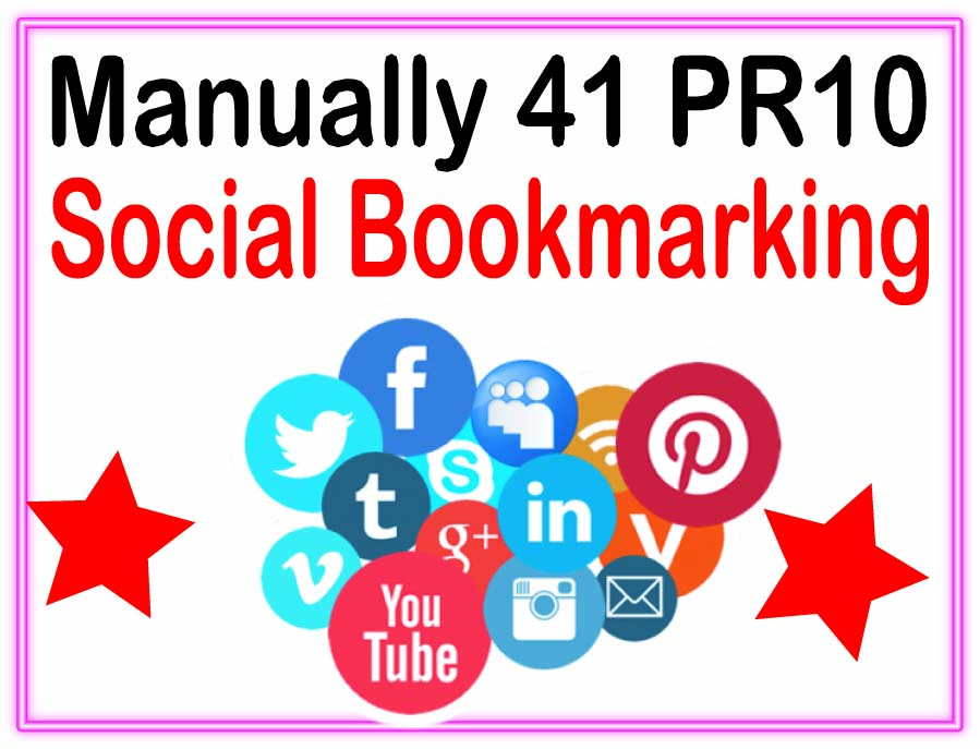 Manually 41 Social Bookmark - Highly Authorized Google Dominating Backlinks
