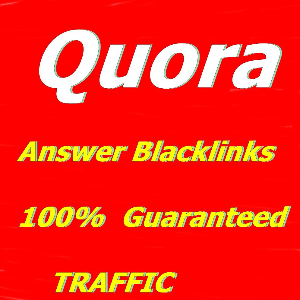 Quora Backlink 12 Guaranteed Quora Answere with uniqu...