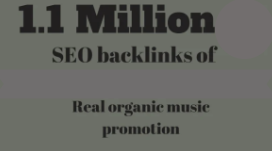 promote your music thrugh 1 million seo backlinks