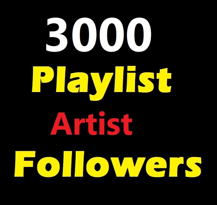 Quick Service 3000 Music Artist Playlist Non Drop profile followers