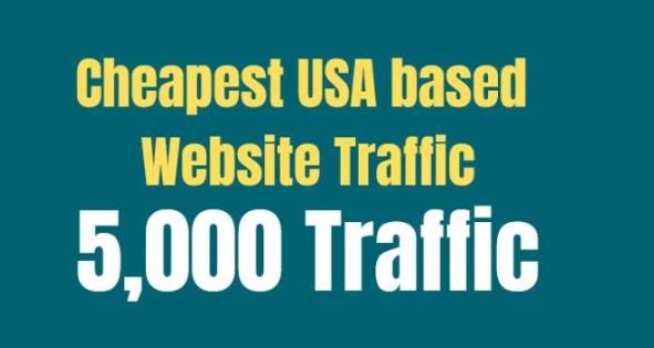 provide you cheapest USA based website traffic
