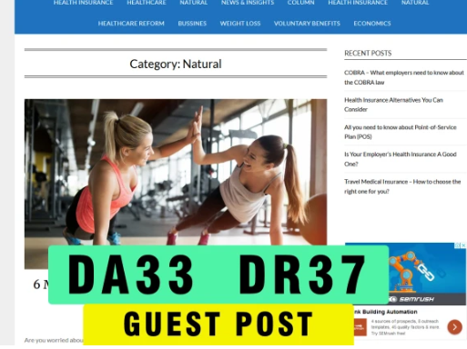 guest post on my da 33 DR 37 health blog with dofollow