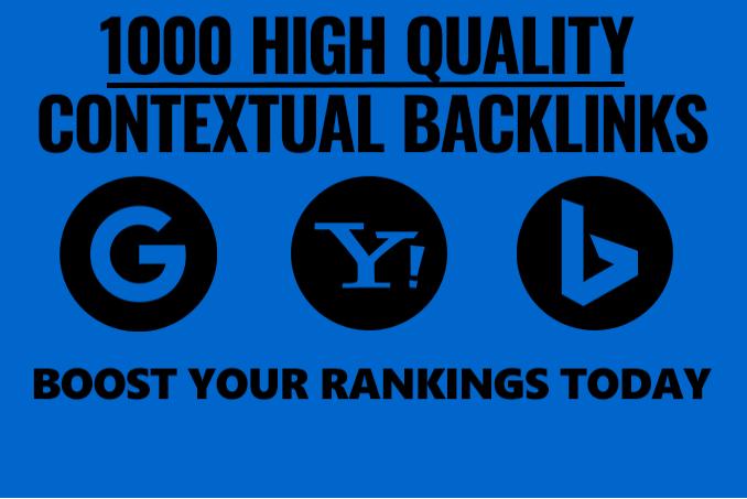 create 1000 powerful SEO contextual backlinks