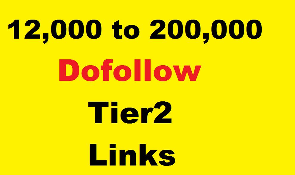 12,000 dofollow tier 2 link building,  power tier 1 links