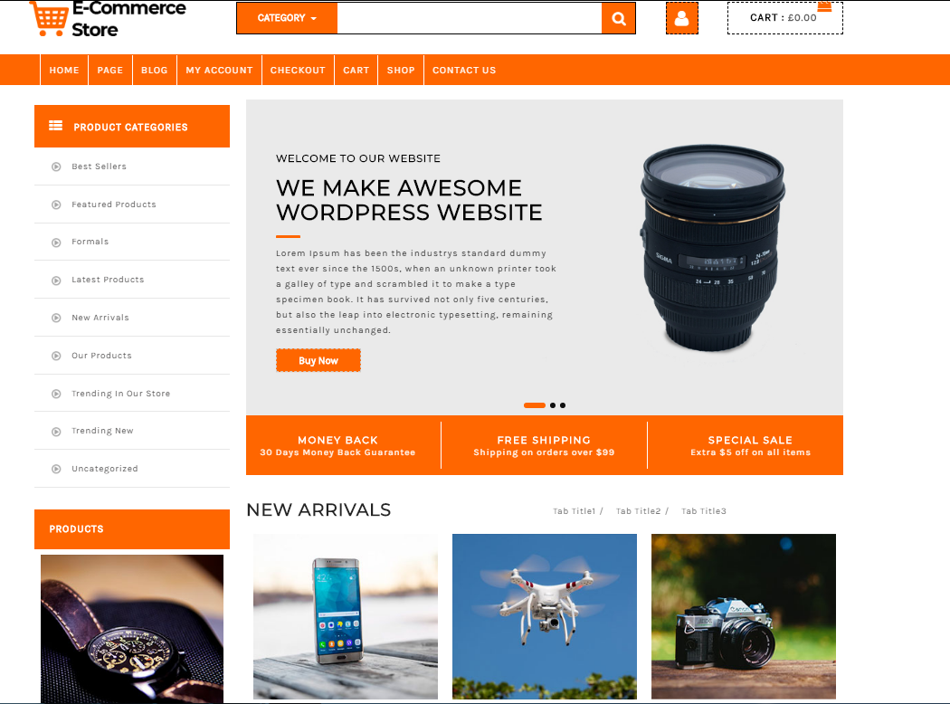 Make A Ecommerce Website Using Wordpress