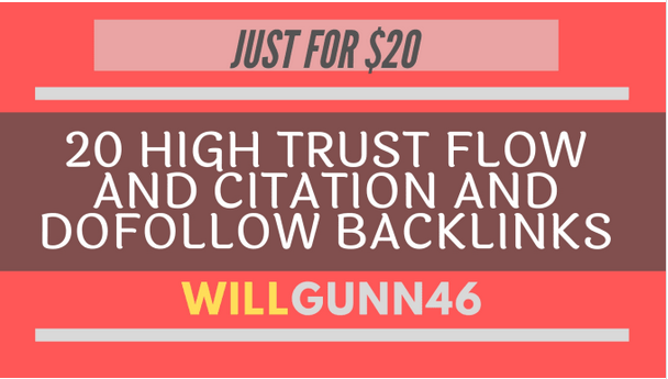 make 20 high trust flow and citation and dofollow backlinks on high da