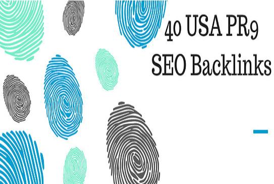 do 40 high da USA pr9 backlinks safe seo link building