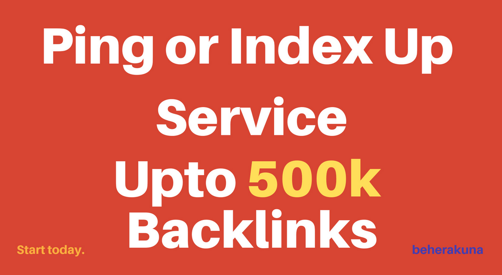 ping or index up to 500k urls,  profiles,  backlinks
