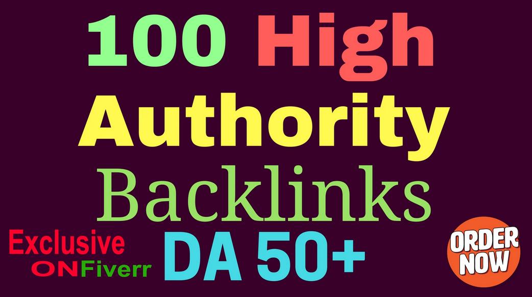 create 100 high da50 to da100 SEO backlinks
