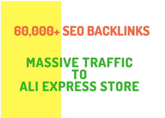 Build 20,000 SEO backlinks for aliexpress store