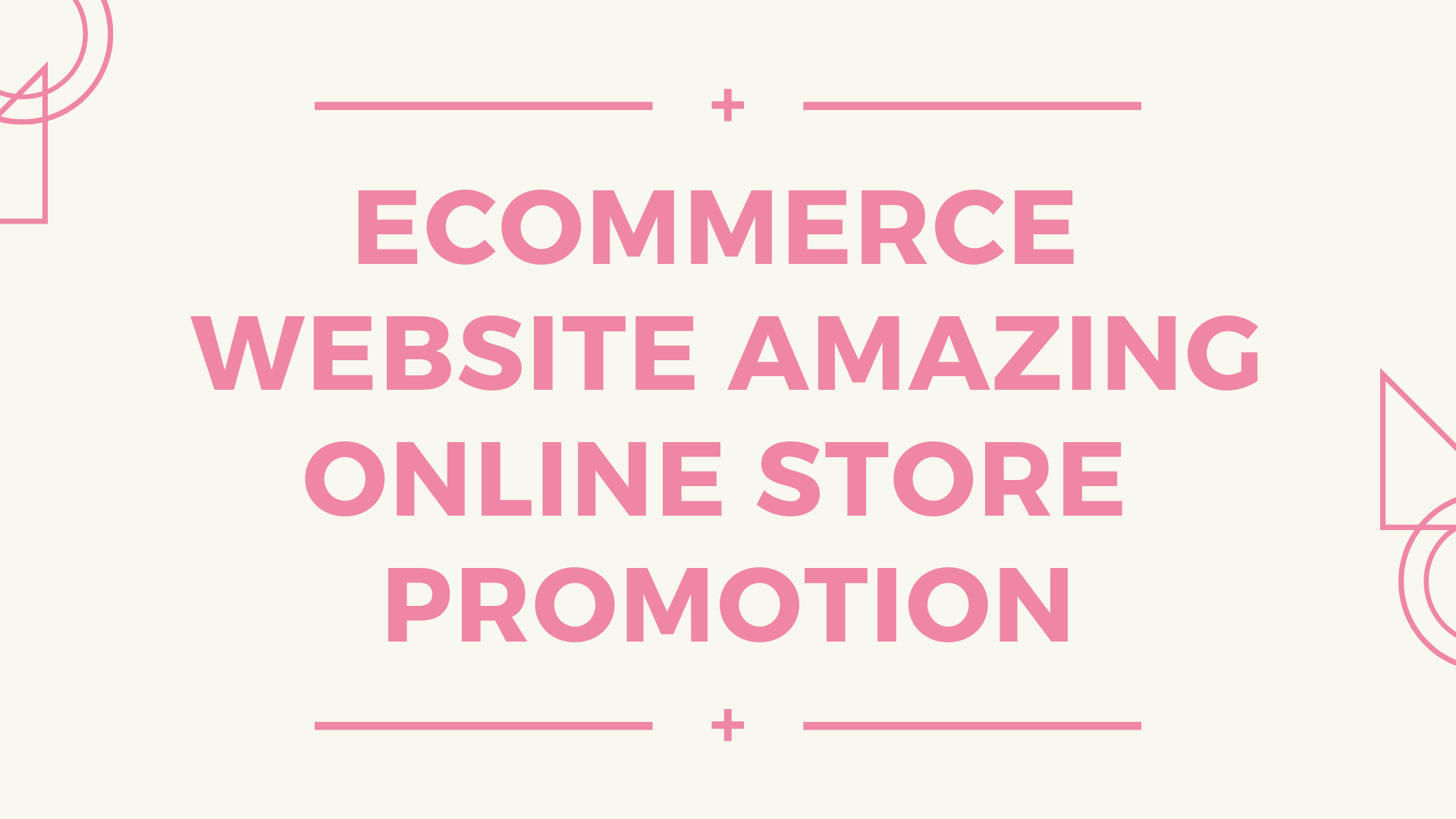 build ecommerce website amazing online store PROMOTION