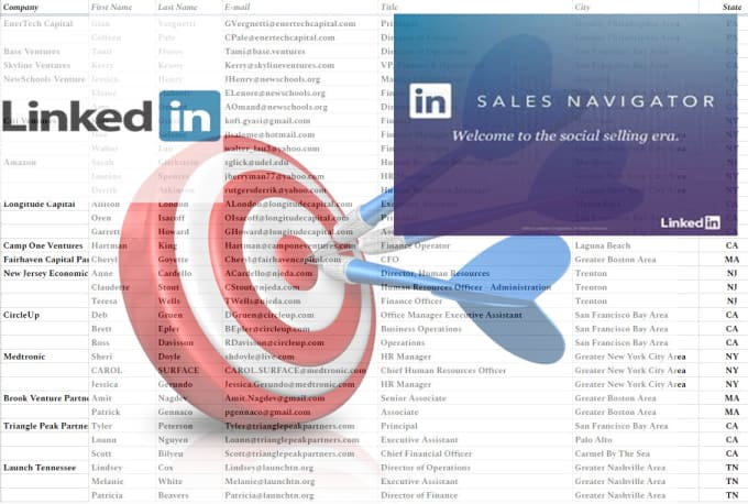 Do Linkedin Keywords Research, Targeted Email, Data Collection
