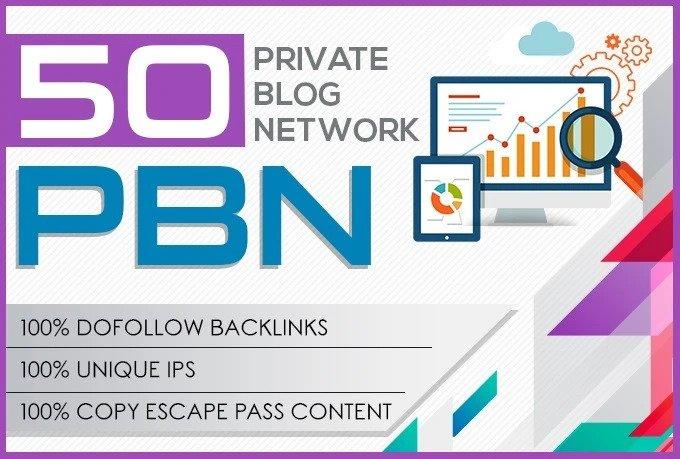 Create 50 High Metrics Pbn Posts Contextual Backlinks