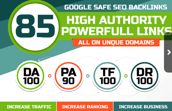 85 google safe seo backlinks high authority powerfull links