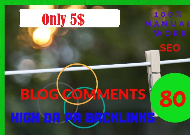 do 80 High Quality Niche Relevant Manual Blog Comments