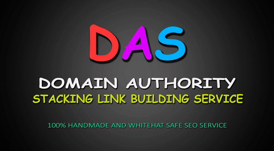 provide domain authority stacking 100 SEO backlinks