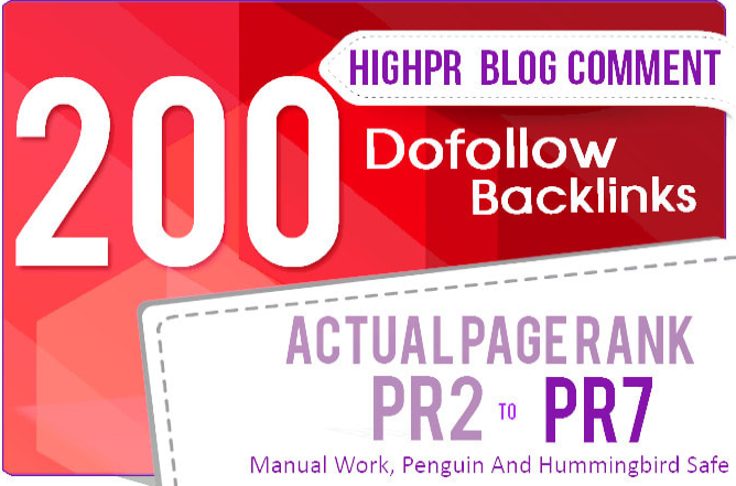 do 200 dofollow backlinks blog comment SEO service