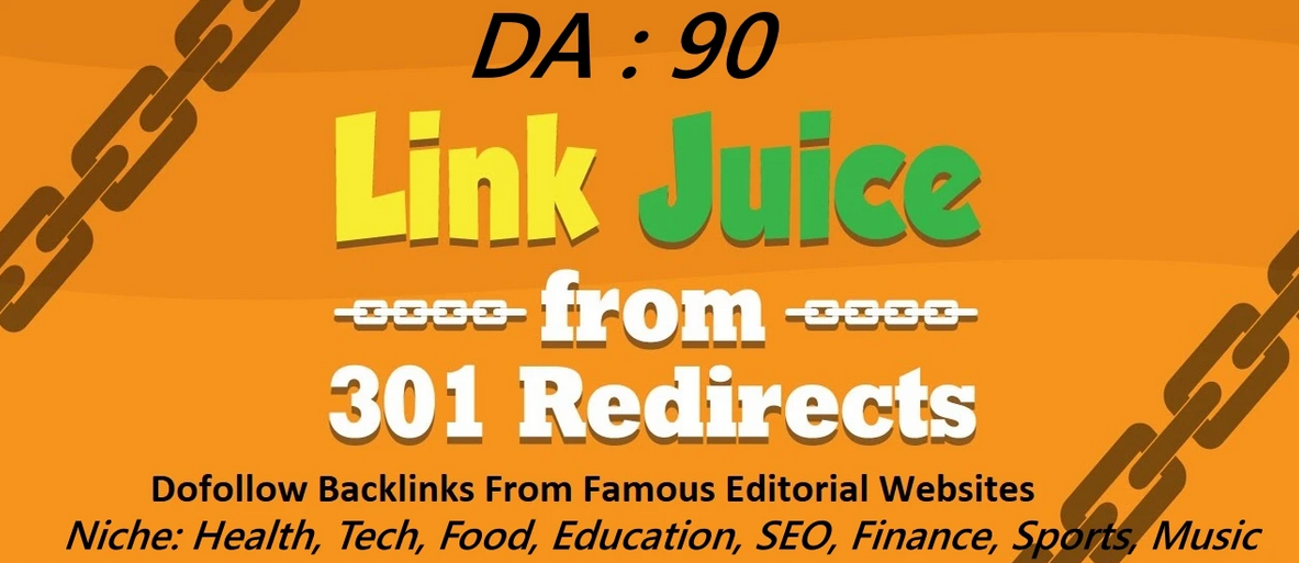 provide high authority backlinks from top news sites da90 via 301 redirect