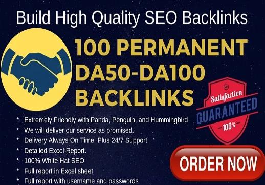 create 100 high da pa permanent quality backlinks
