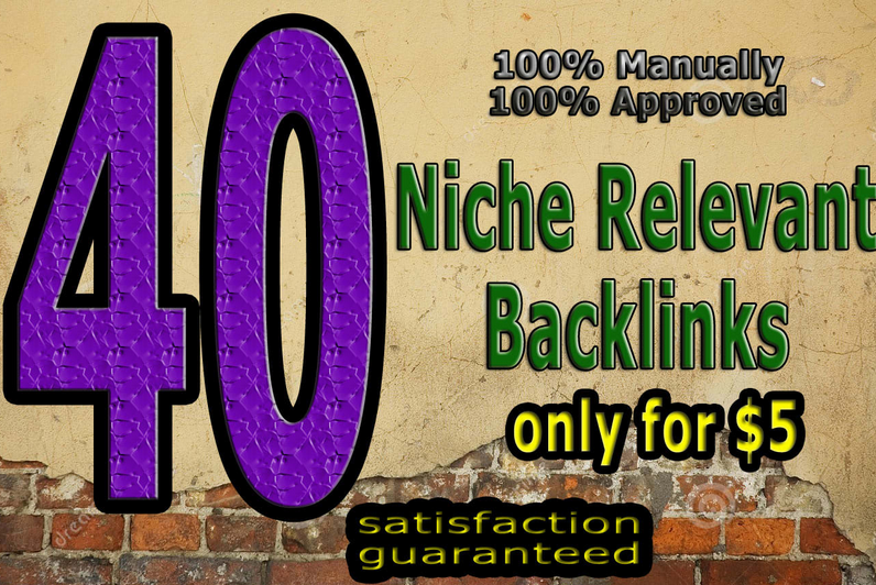 make 40 high quality niche relevant backlinks main domains