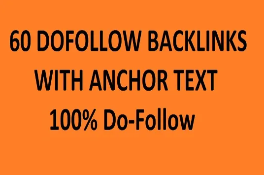 create 60 dofollow profile backlinks with anchor text