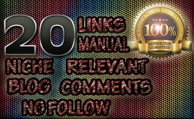 20 niche relevant blog comment backlinks