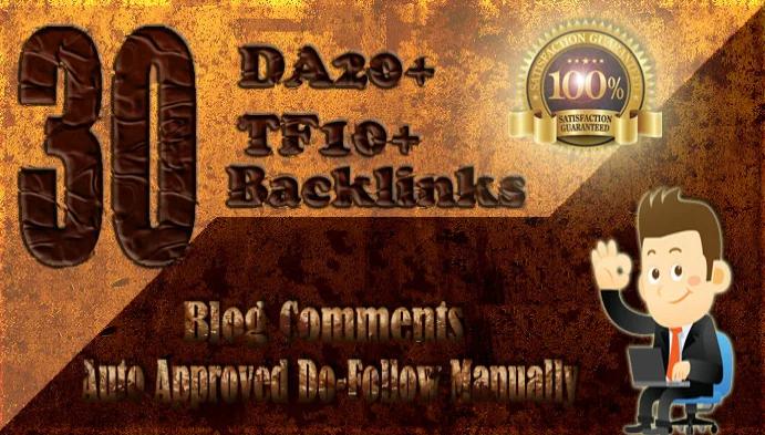 submit 30 high da tf dofollow backlinks