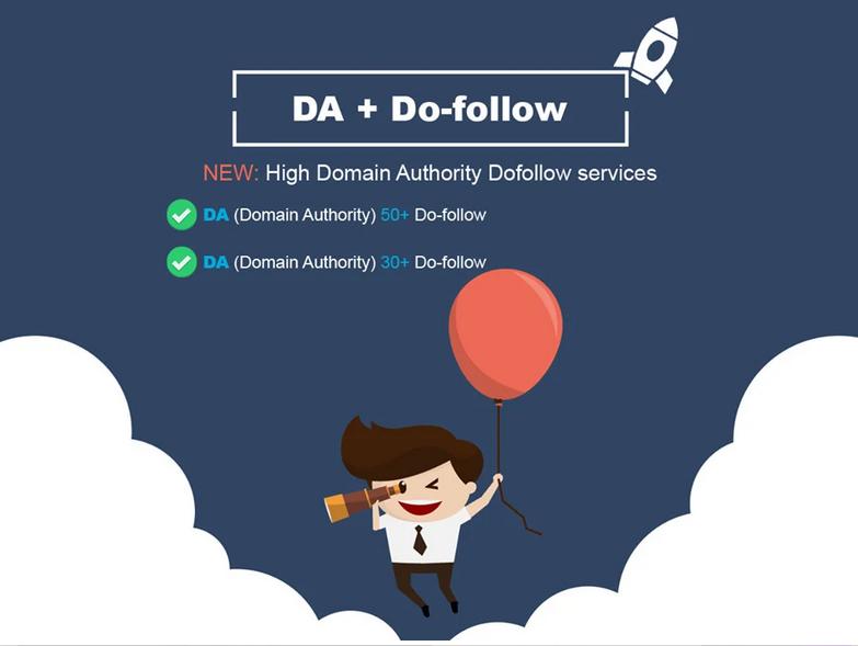 get high authority da 50 plus dofollow backlinks