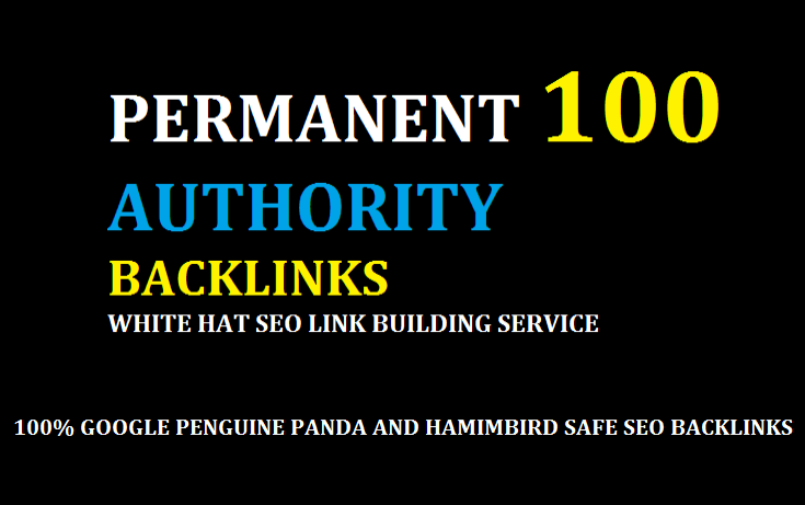 create 100 backlinks, from high da tf cf
