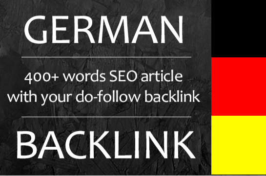 write a german article on my blog website with your backlink