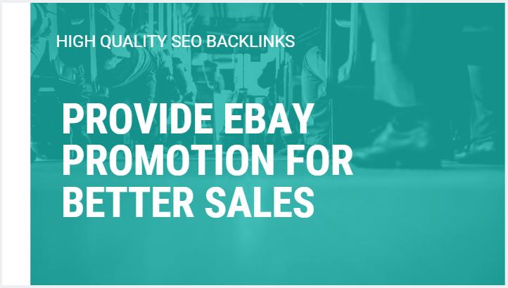 provide ebay promotion for better sales