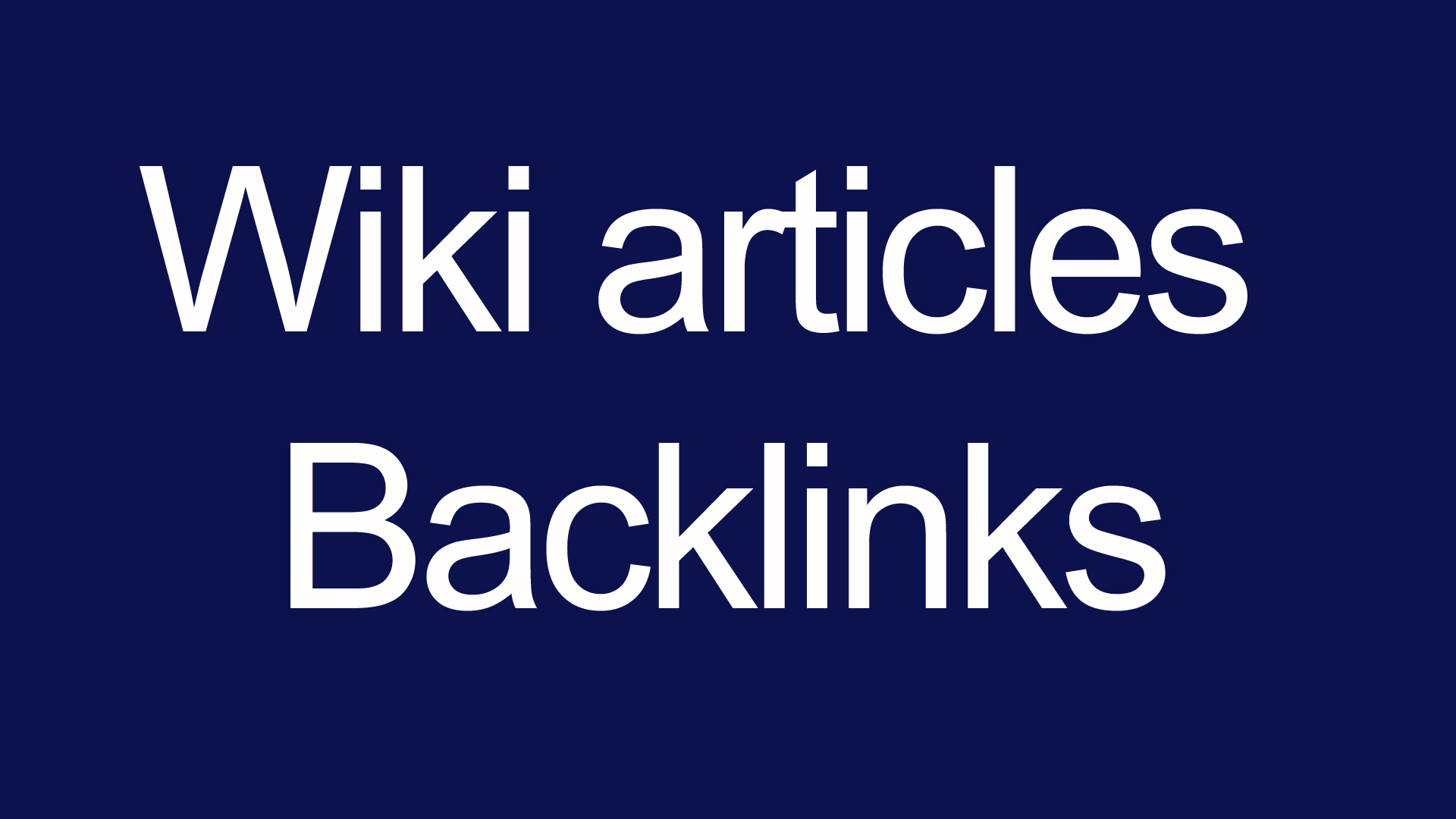 Wiki articles Backlinks (contextual backlinks) 3000 backlinks for your site