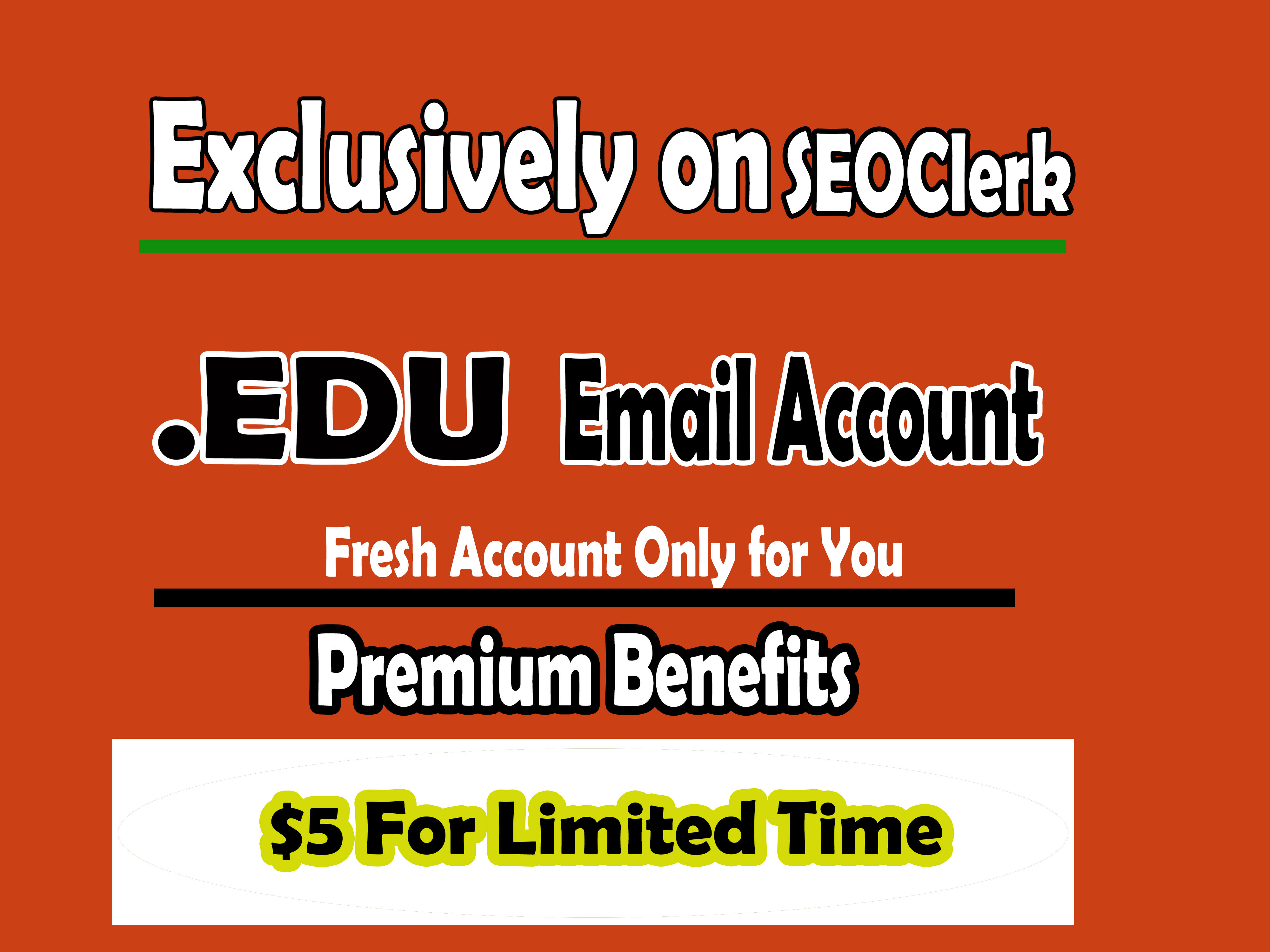 Prepare a new EDU email account for you