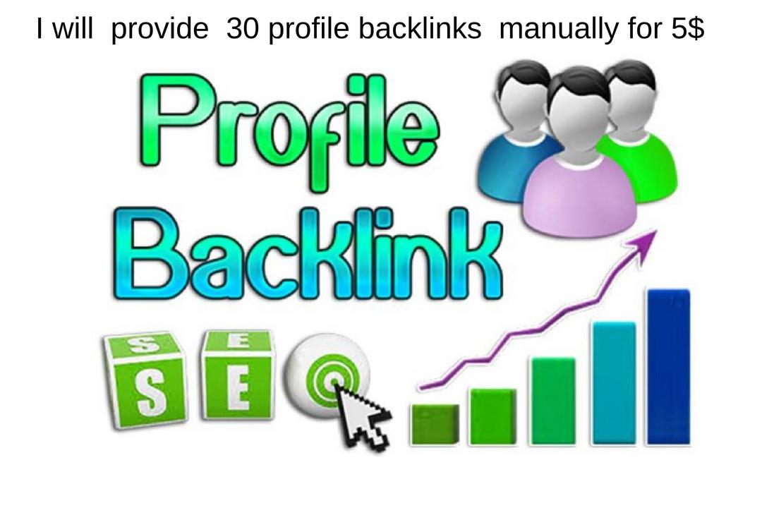 30 profile backliks manually in HQ website