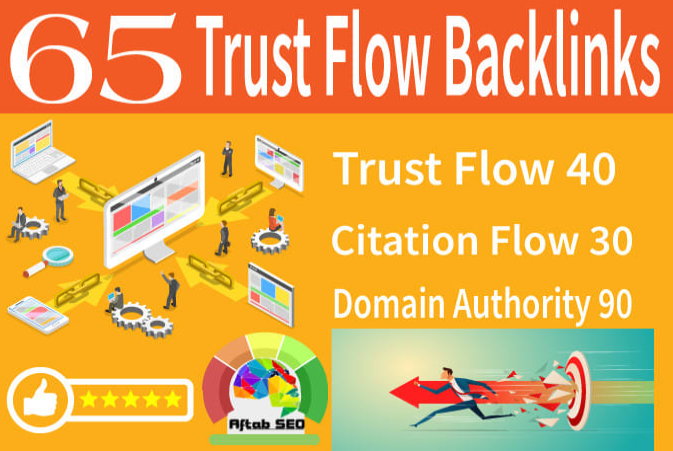 65 trust flow citation flow high domain authority backlinks