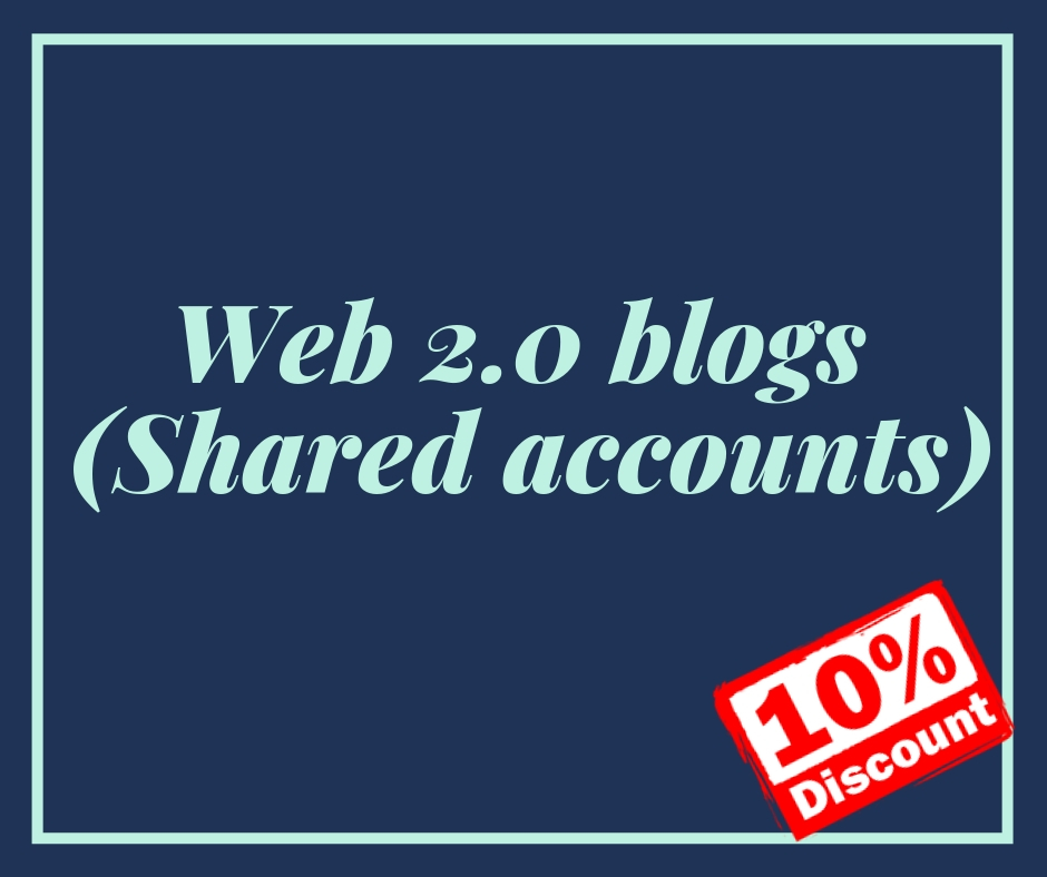 Web 2.0 Shared Account 50+ SEO Backlinks for Unbeatable Your Website Ranking
