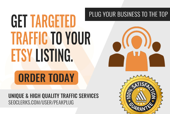 Real Targeted TrafficTo Any Etsy Listing