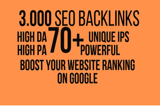 make high quality da 60 plus 5k SEO backlinks