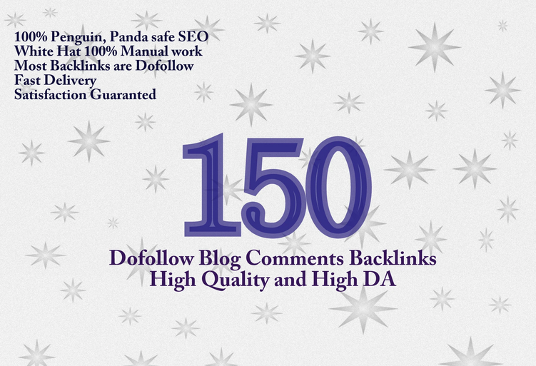 manually create 150 dofollow backlinks