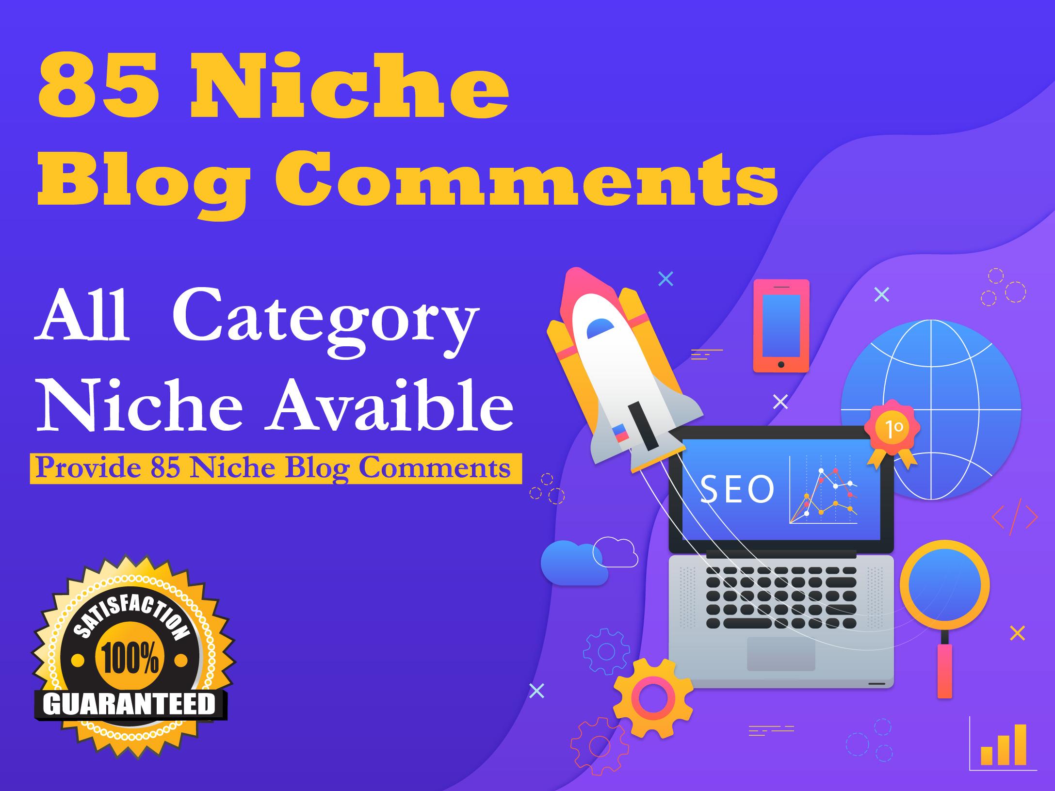 Provide 85 Niche Relevant Blog Comments Backlinks