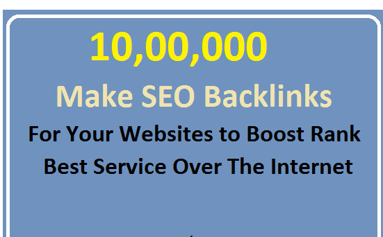 create 10, 00,000 SEO backlinks manually